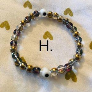 H. Evil Eye Blessed and Beaded Bracelet